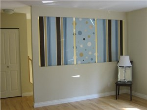Do It Yourself: Painted Stripes, Wallpaper, and Canvas Wall Art