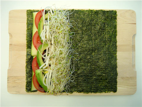 Don't be afraid to roll with your favorite vegetable and wrap it up!