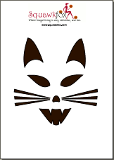 Printable Pumpkin Carving Stencils (Free and Scary) - Squawkfox