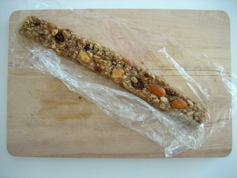 granola bars dough rolling