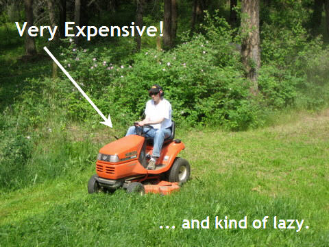 grass riding lawn mowers expensive