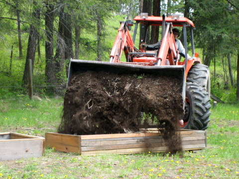 square foot gardening tractor soil