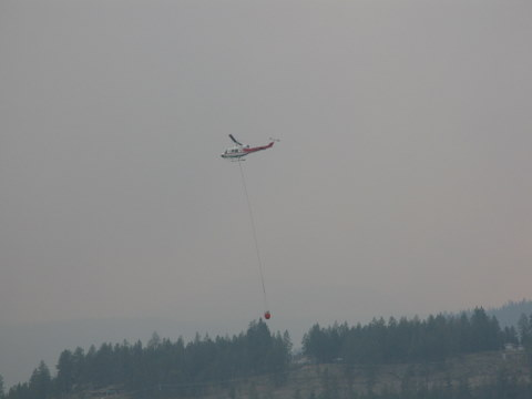 helicopter water bomber forest fires