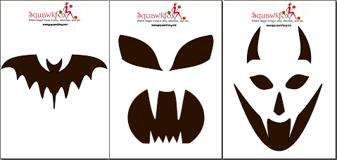 pumpkin stencil scary faces pumpkin carving