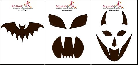 pumpkin stencil scary faces pumpkin carving