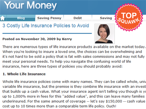 life insurance policy to avoid