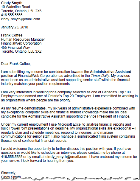 Free Example Of Cover Letter from www.squawkfox.com