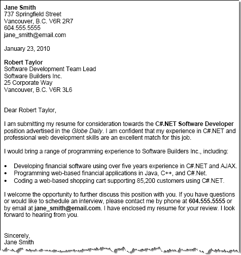Free Cover Letter Examples with Cover Letter Tips Squawkfox – Sample Cover Letter Format Example