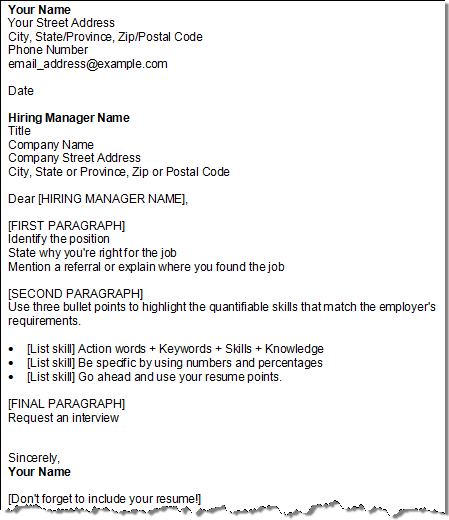 get your cover letter template four for free - Name Your Resume Examples