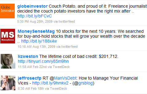 twitter search investing money tips