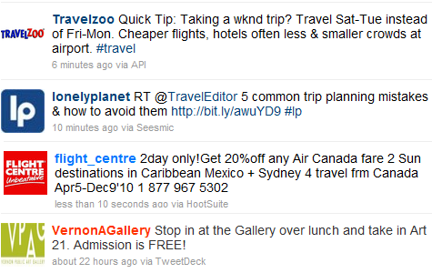 twitter travel tips budget travel