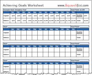 How to Set Financial Goals – 3 Financial Goals Worksheets