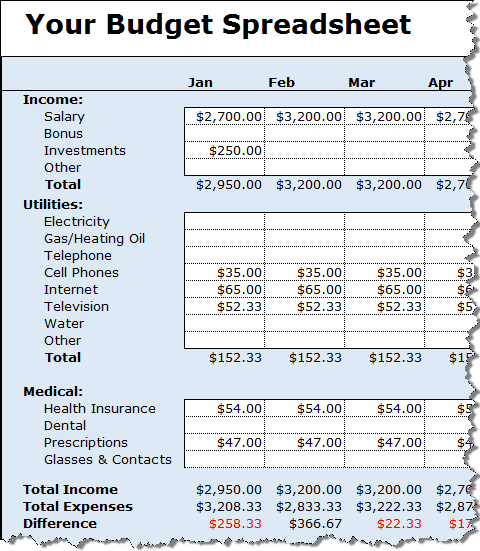 track your money with the free budget spreadsheet 2019