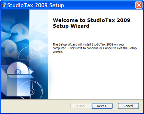 studiotax tax software setup