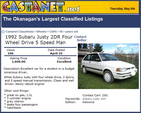 used car classifieds