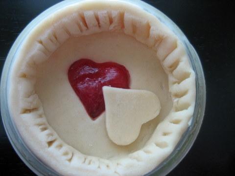 frozen pies in a jar
