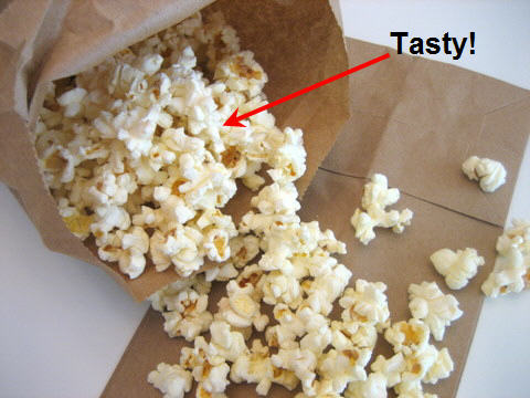Paper Bag Popcorn How To Microwave In A