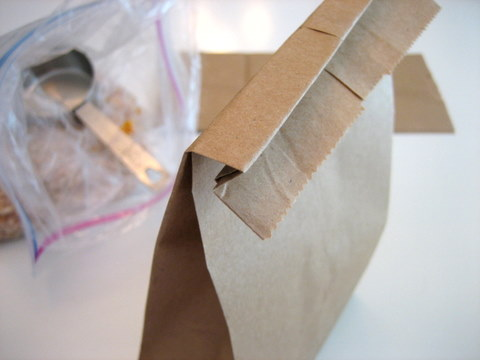 how to make popcorn in a brown paper bag