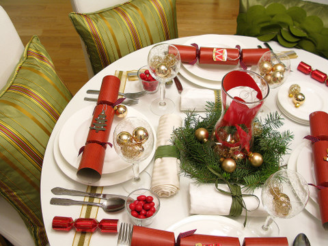 christmas decorations 5 ways to decorate your holiday table on a budget squawkfox - Holiday Table Decorations Christmas