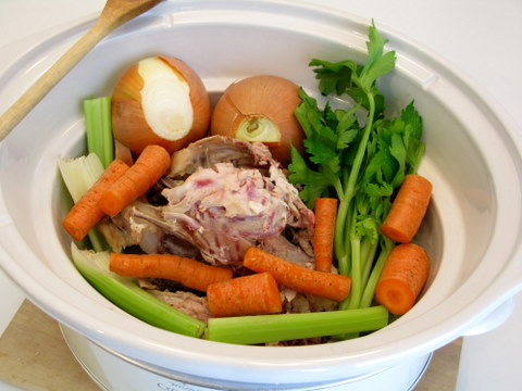 how to make vegetable stock in a slow cooker