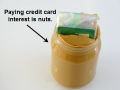 Curb credit card spending with a jar of peanut butter