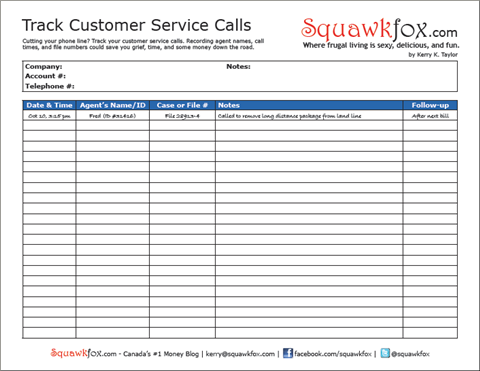 Track your customer service calls