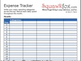 Expense Tracker Worksheet