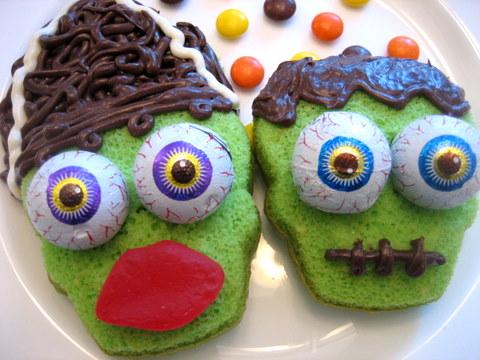 halloween cupcakes frankenstein
