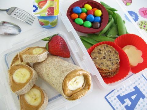 peanut butter pinwheel sandwich
