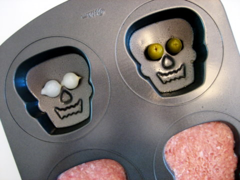 Reuse A Cupcake Pan To Make Monster Meat Heads For