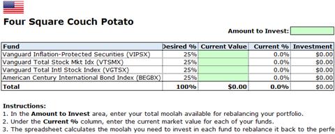 U.S. Four Square Couch Potato Rebalance