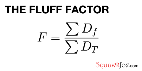 Fluff Factor Equation