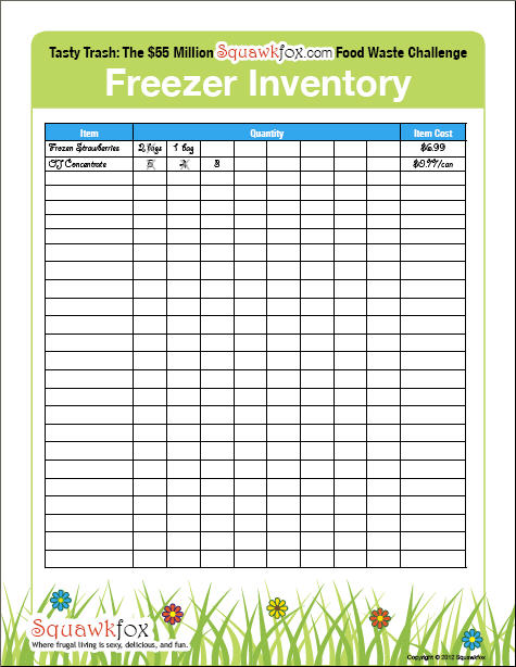 Freezer Inventory Three Simple Steps To A Freshly Frugal Freezer