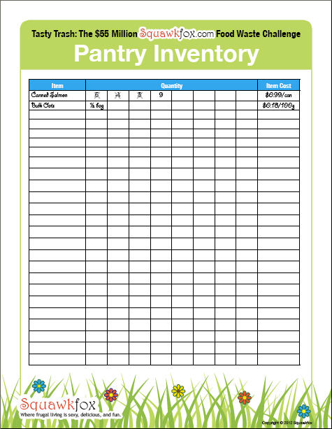 Revered image for pantry inventory printable