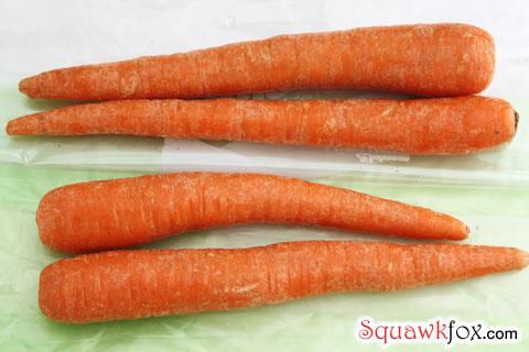 green bags carrots