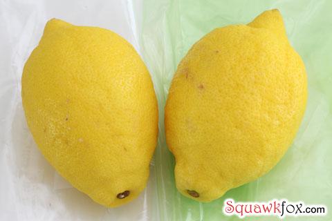green bags lemons
