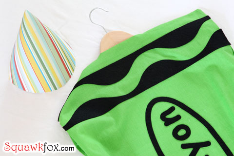 Make a last minute halloween costume with an old pillowcase squawkfox crayola crayon costume solutioingenieria Choice Image