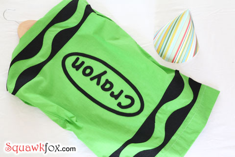 crayon costume pattern
