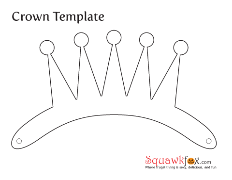 Make a last minute halloween costume with an old for Paper crown template for kids