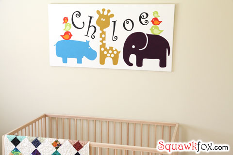 Nursery Wall Art Decorate Your Baby S Room For Less Squawkfox