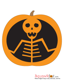 pumpkin stencils skeleton