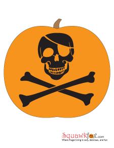 pumpkin stencils skull crossbones