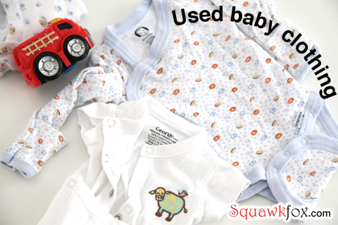 baby used clothes