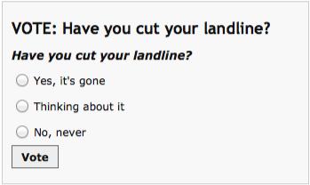 landline poll