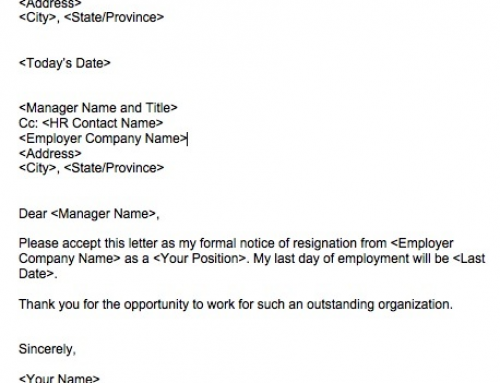 Attractive A Short Resignation Letter Example That Gets The Job Done