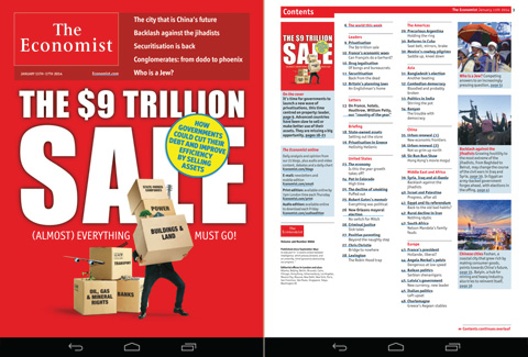 Use Zinio and a subscription to The Economist is free.