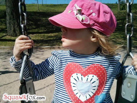 girl swingset