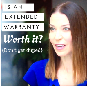 Don't get duped into buying an extended warranty
