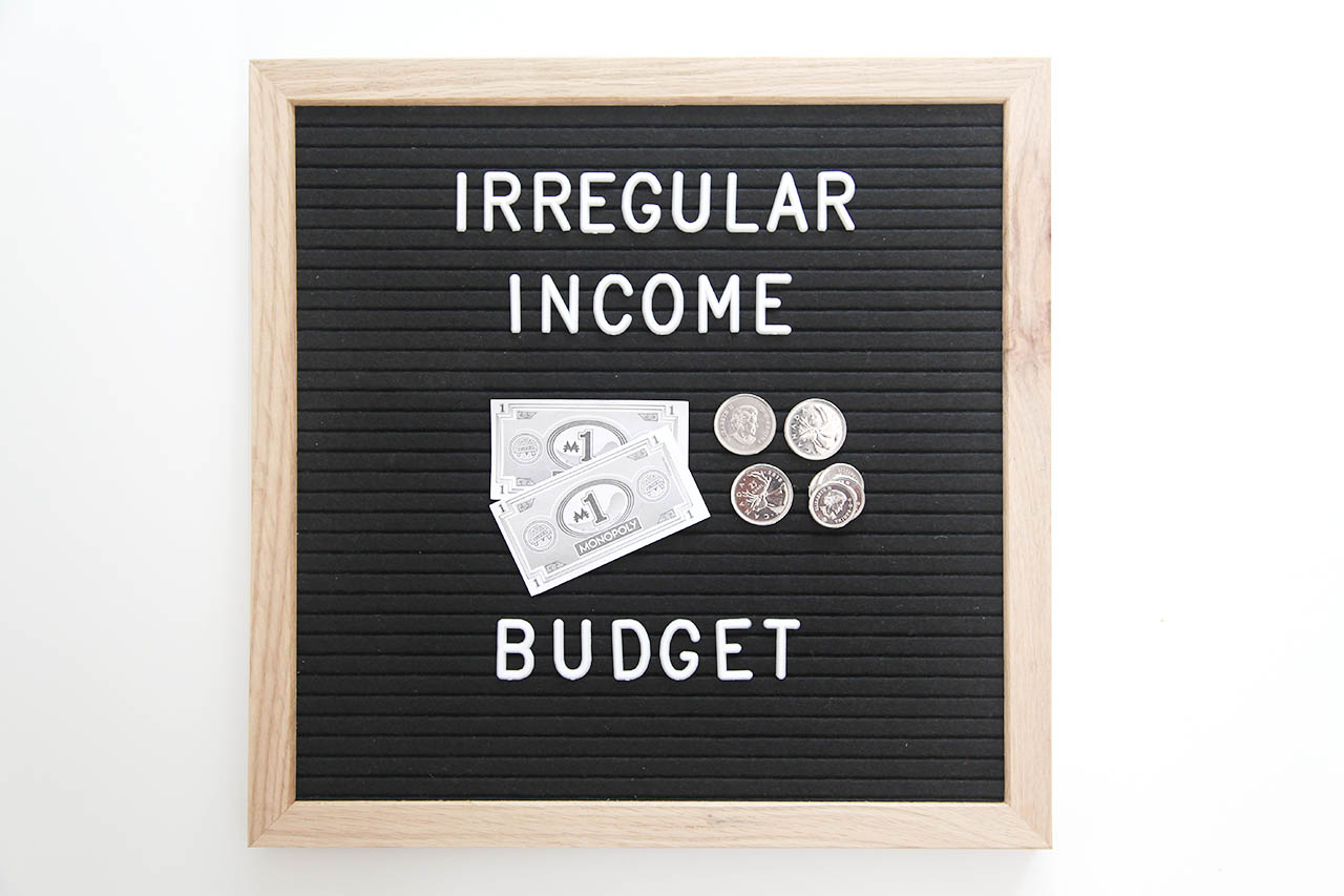 irregular income budget